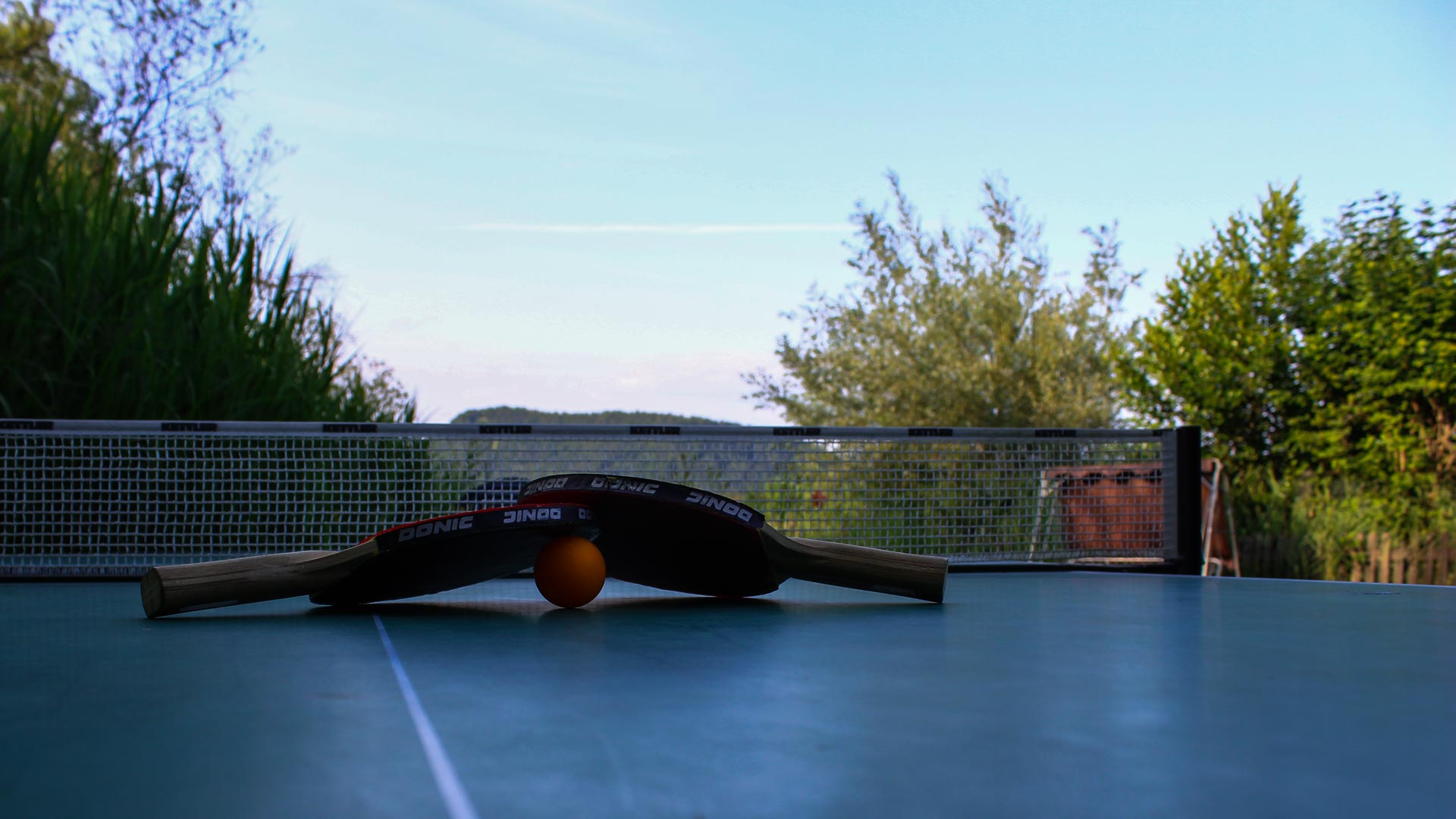 Sportliche Aktivitäten: Tischtennis am See